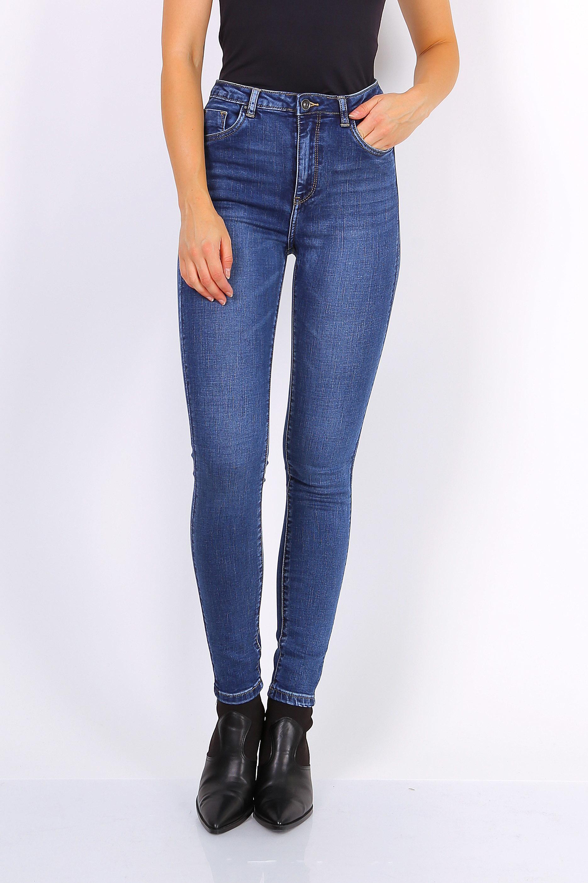 Toxik 3 Jeans | L185-J37 Mid Blue Denim High Waisted Super Stretch