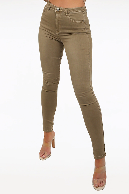 Toxik 3 Jeans | Taupe L185-99 High Waisted Super Stretch Jeans
