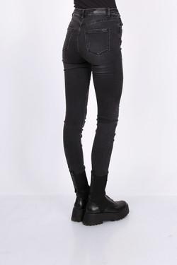 Toxik 3 Jeans | L185-J42 Dark Grey Wash Denim High Waisted Super Stretch