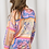 Thumbnail: Baroque Oversized Print Shirt in Pink Multicolour