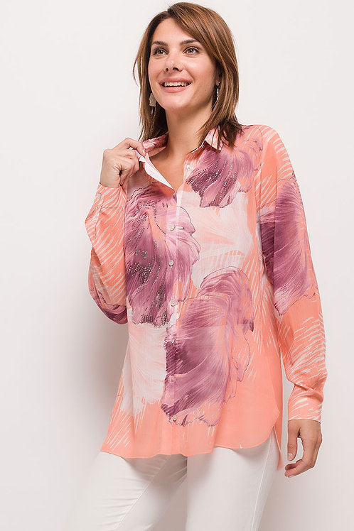 Limited Edition Crystal Embellished Sheer Blouse | Various Sizes