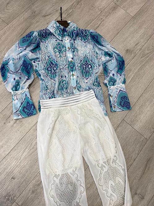Zimmermann Inspired Shirt | Blue