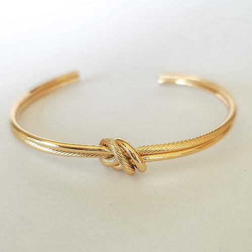 Love Knot Bangle | Gold