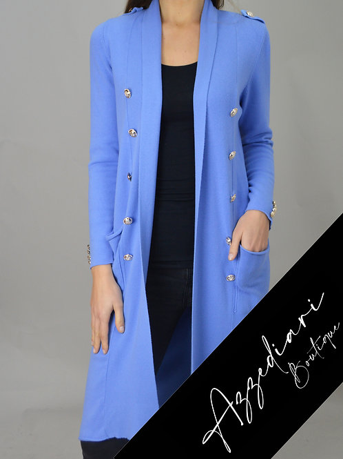 cornflower blue cardigan