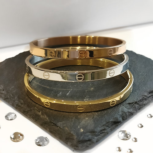 Stainless Steel Bangle (Thick) | Rose Gold, Gold or
