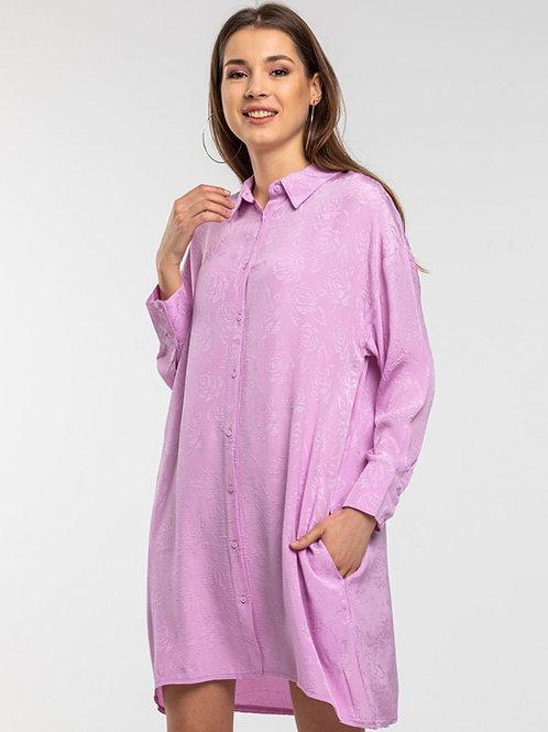 lilac shirt dress