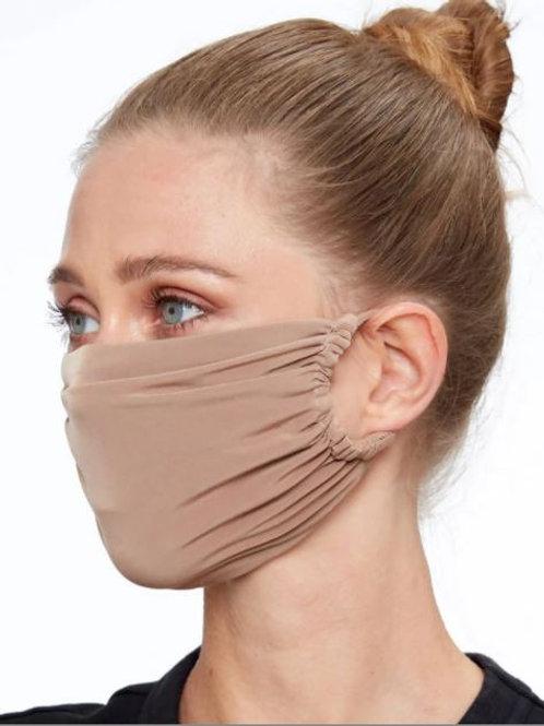 Beige Supersoft Stretch Fabric Face Mask