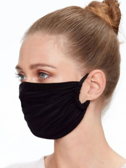 Black Supersoft Stretch Fabric Face Mask