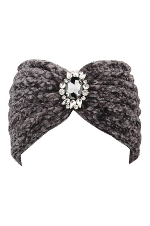 Chenille Crystal Headband | One Size
