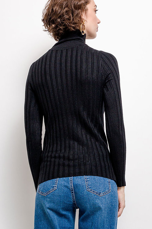 Ribbed Wool Mix Roll Neck Jumper | S/M or L/XL