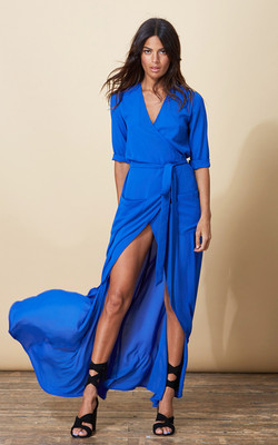 ZAHARA WRAP DRESS IN ROYAL BLUE  £45