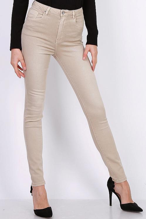 Toxik 3 Jeans | Light Beige L185-105 High Waisted Super Stretch Jeans