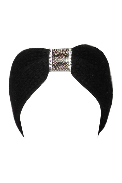 Black Snake Print & Crystal Headband | One Size