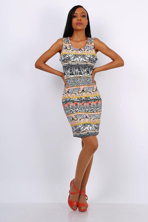 safari print dress