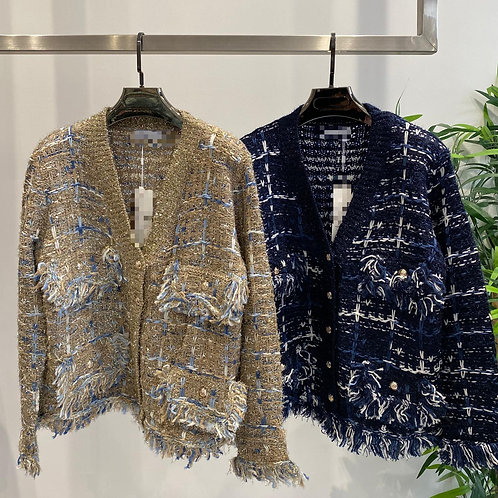 Chanel Inspired Wool Blend Cardi Coat | One Size