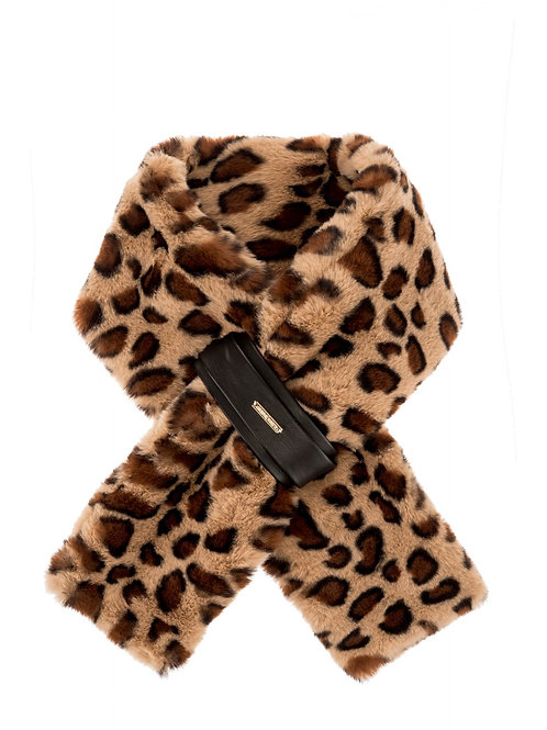 Faux Fur Shawl/Collar with Faux Leather Fastening | Various Colours & Prints