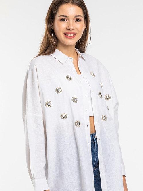 oversized crystal shirt
