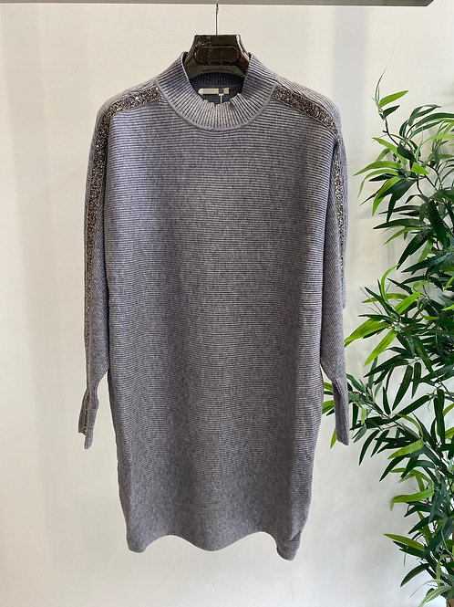 Turtleneck Jumper with Crystal Detail | One Size