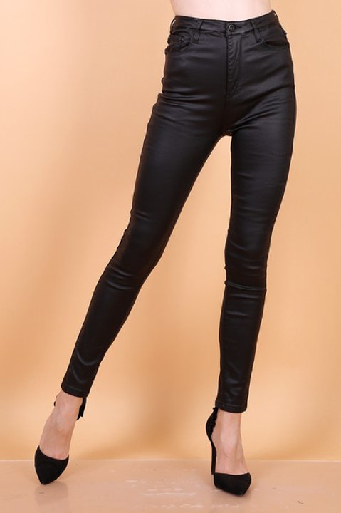 queens hearts leather jeans