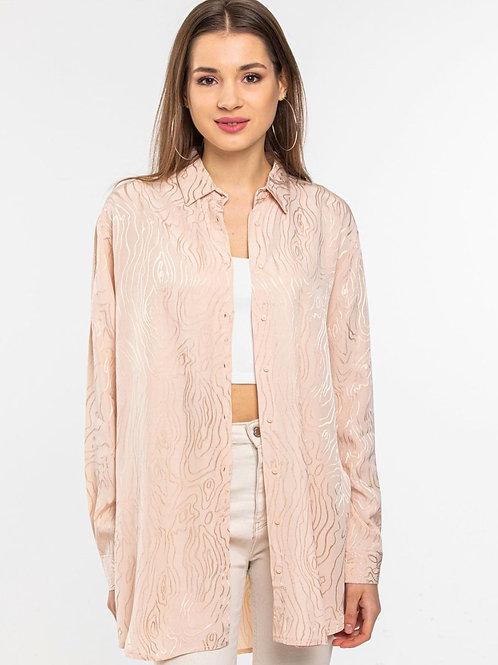 beige silk shirt