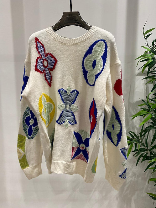 LV Inspired Knitted Jumper | S/M or M/L