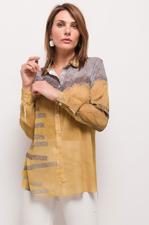 LIMITED EDITION Crystal Embellished Sheer Blouse   Various Sizes