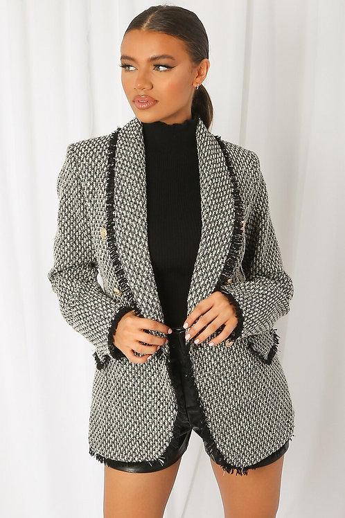 balmain style blazer