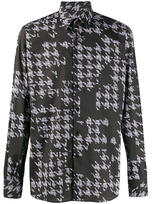 karl lagerfeld houndstooth shirt