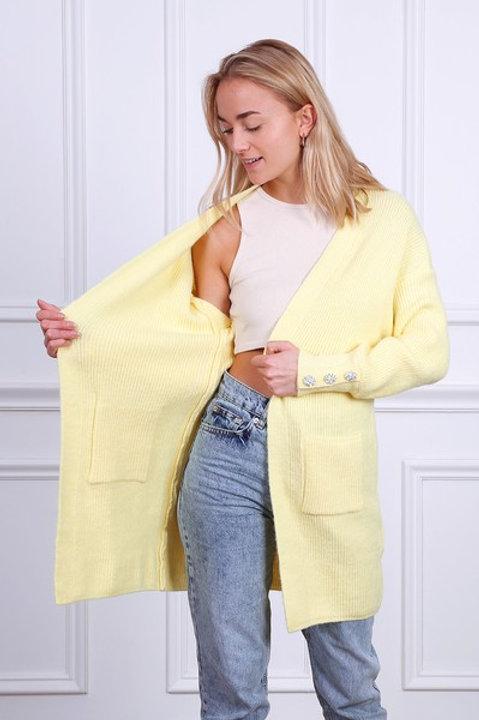 yellow spring cardigan