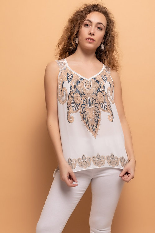 LIMITED EDITION Crystal Embellished Vest with Lace Straps| Various Sizes
