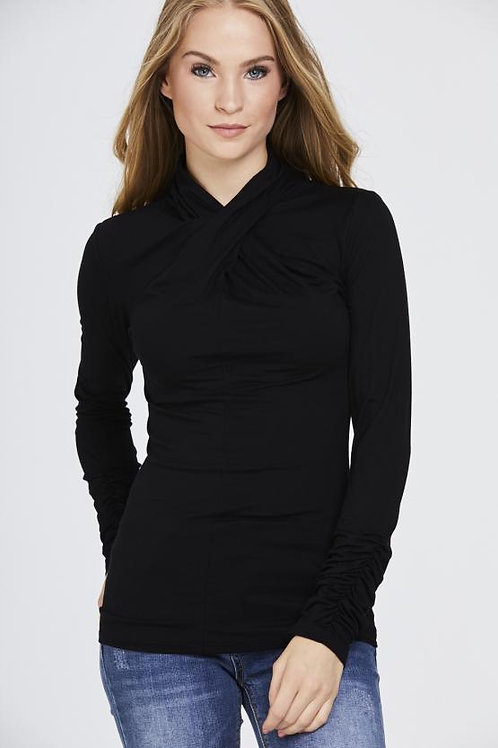 Twisted Neck Top | Various Colours