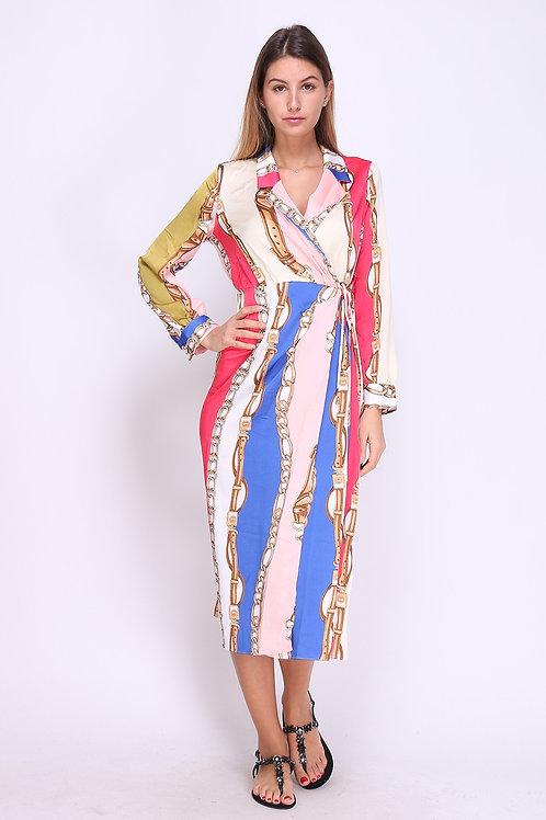 Multicolour Chain Print Dress | Various Sizes