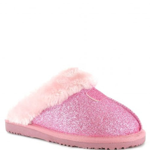 Ella Jill Ladies Slippers With Memory Foam by Ella Shoes | Pink Sparkle
