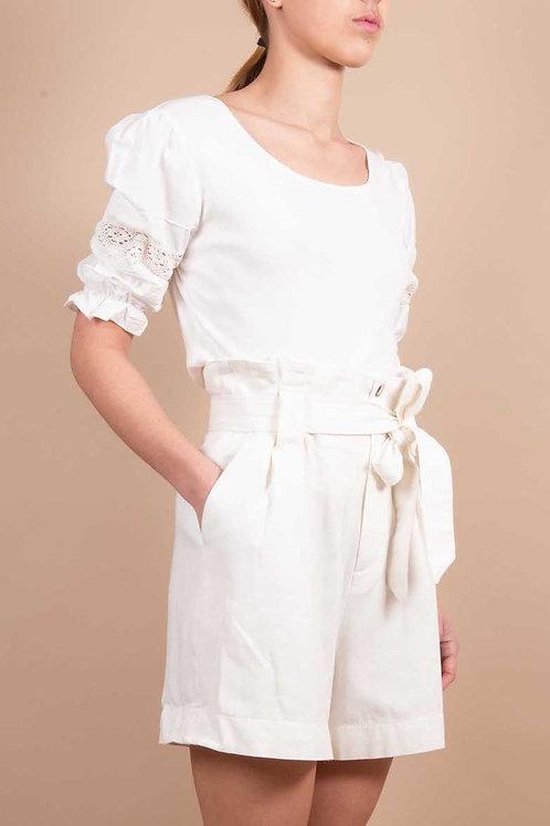 white puff sleeve tshirt