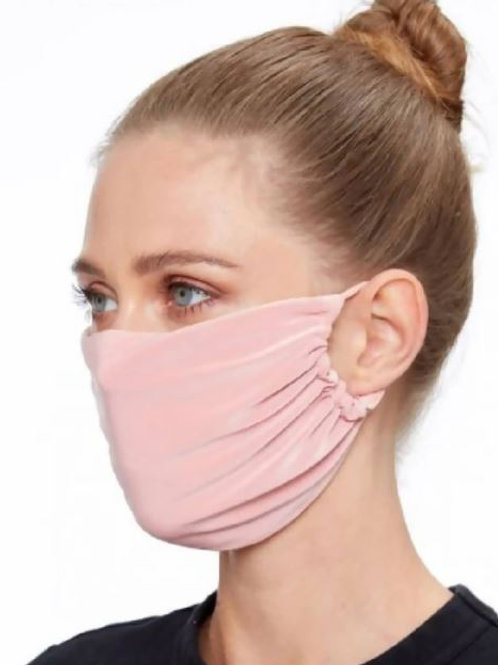 Pink Supersoft Stretch Fabric Face Mask