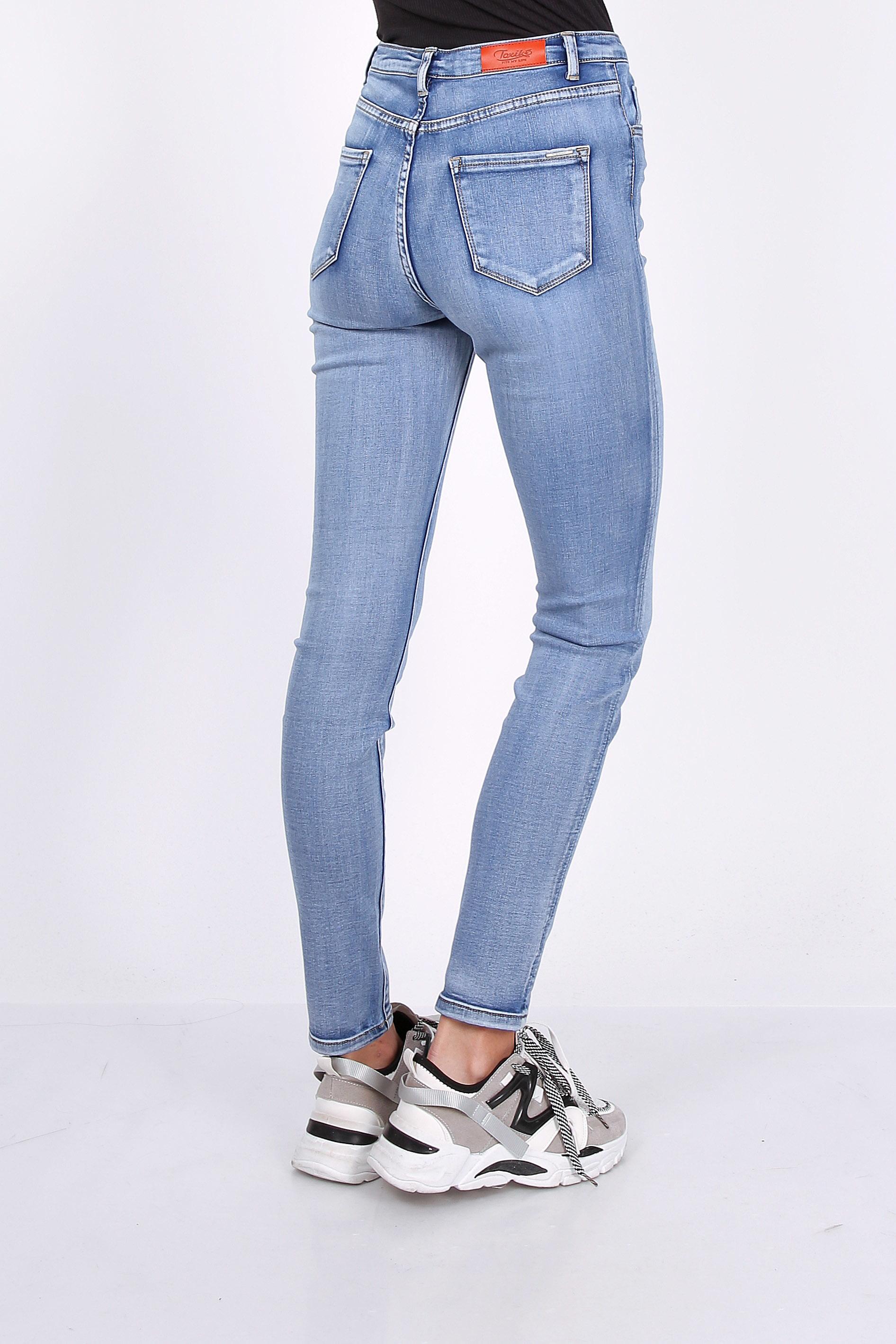 Toxik 3 Jeans | L185-J41 Light Blue Denim High Waisted Super Stretch