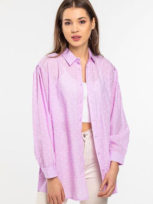 baggy lilac shirt