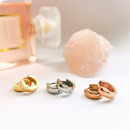 Stainless Steel Hoop Earrings (Thick) | Gold, Silver or Rose Gold