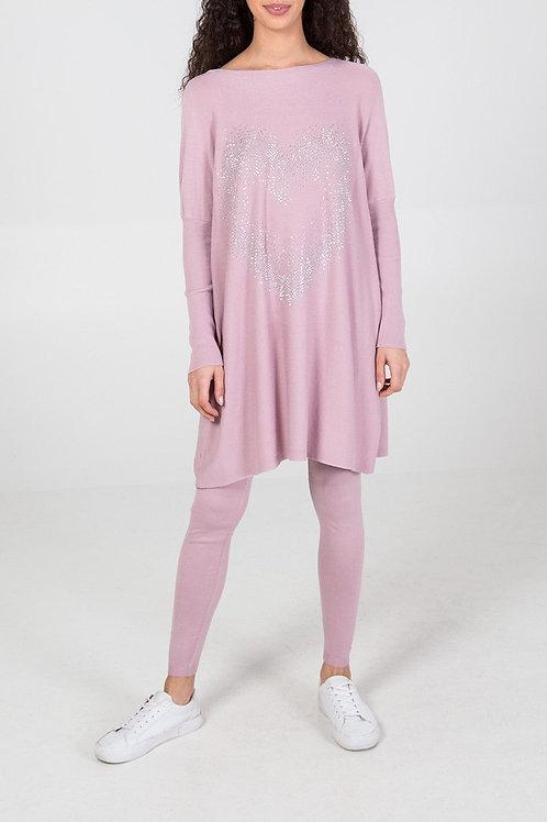 pink embellished loungewear