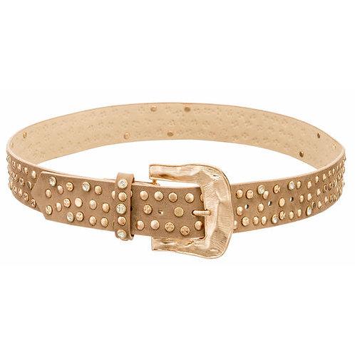 Gold Studded & Crystal Belt | S or M