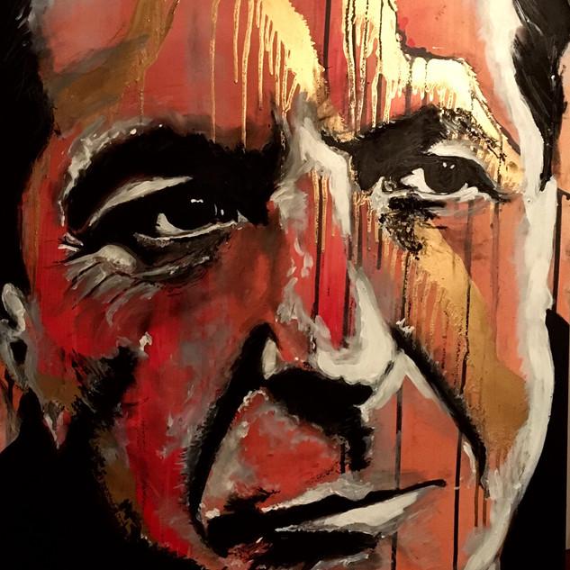 """Leonard Cohen 35"""" x 22.5"""""""
