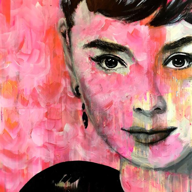 """Audrey Hepburn 35"""" x 23"""""""