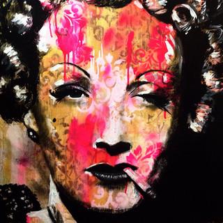 """Marlene Dietrich 36"""" x 24"""""""