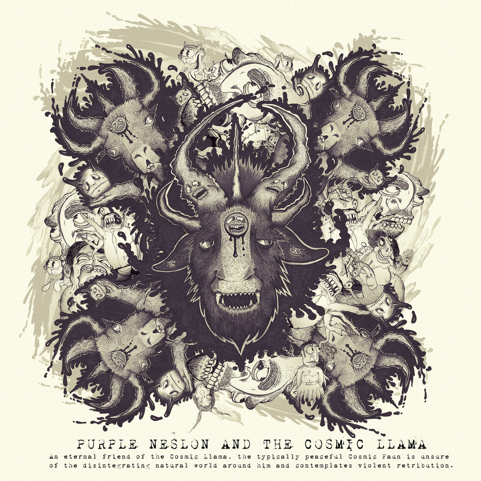 PURPLE NELSON & THE COSMIC LLAMA OFFICAL EP COVER BY EROL ZENDIS