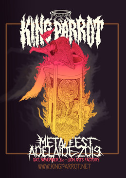 Hieronymus Bosch inspired - Official KING PARROT flyer [Metalfest Adelaide 2019]