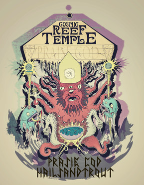 Official Cosmic Reef Temple Poster/Design - Also used on board