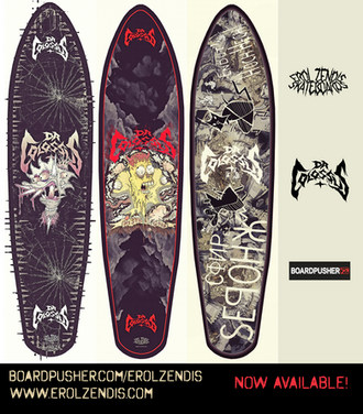 OFFICIAL DR COLOSSUS SKATEBOARDS BY EROL ZENDIS