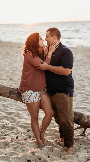 West Beach Engagement Session | Erica + Dave