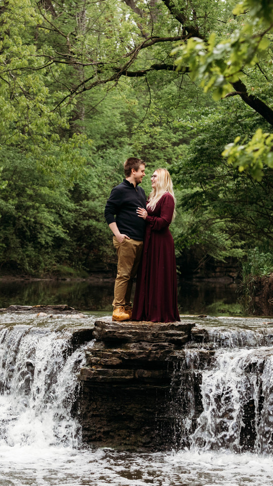 Waterfall Glen Engagement Session | Jackie + Garrett