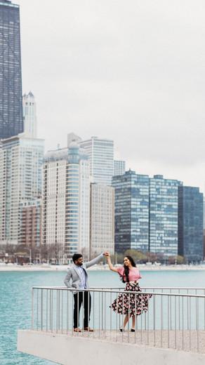 Olive Park & Jackson Park, Chicago Engagement Session | Dhruvin & Rucha